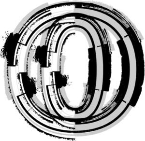 Grunge Font. Letter O