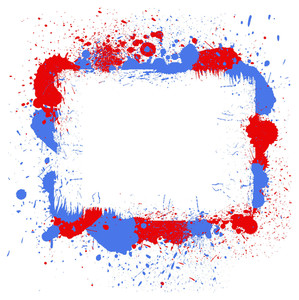 Grunge Frame 4th Of July Vector Theme