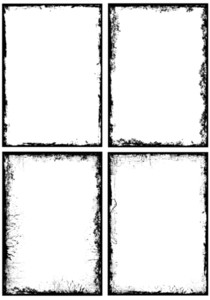 Grunge Frames Elements Vectors