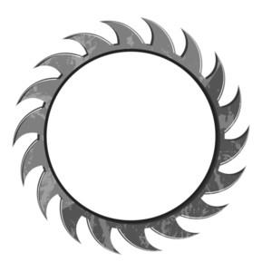 Grunge Gear Wheel Blade