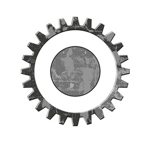 Grunge Gear Wheel Vector
