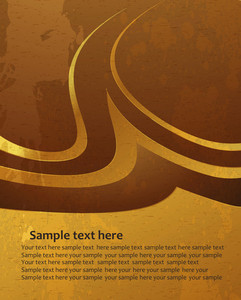 Grunge Gold Background Vector Illustration