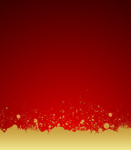 Grunge Golden Paint Scatter Background
