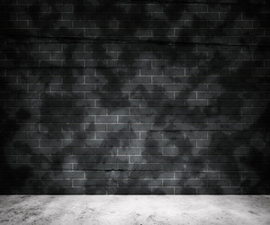 Grunge Gray Brick Wall Background