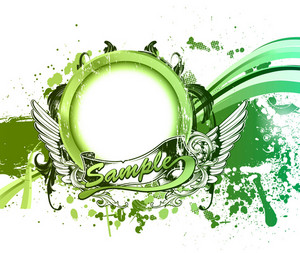 Grunge Green Background Vector Illustration