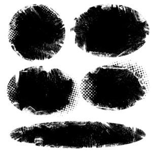 Grunge Halftone Damaged Background