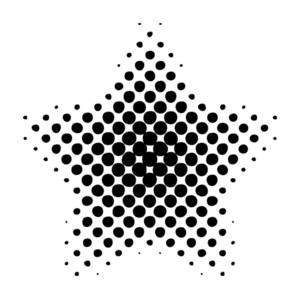 Grunge Halftone Star Design