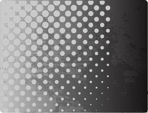 Grunge Halftone Texture Banner Vector