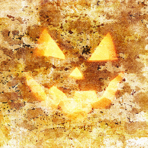 Grunge Halloween Pumpkin Background