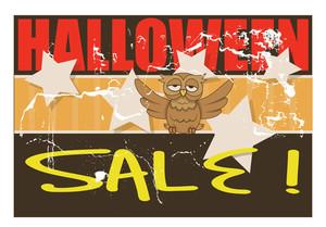 Grunge Halloween Sale Banner