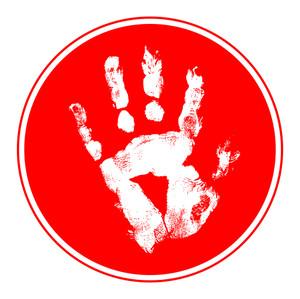 Grunge Hand Print Frame