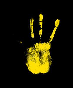 Grunge Hand Print Texture
