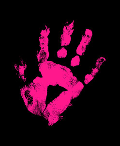 Grunge Hand Print