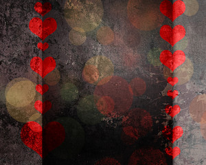 Grunge Heart Background