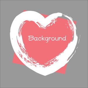 Grunge Heart Banner Vector Frame