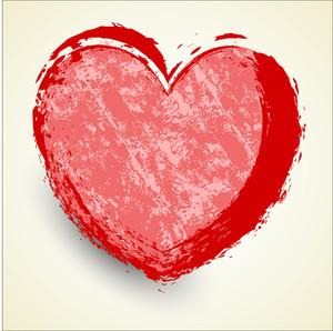 Grunge Heart Banner