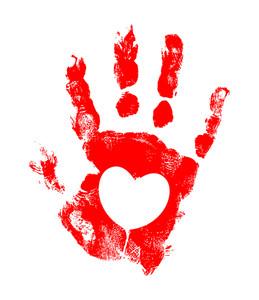 Grunge Heart Hand Texture