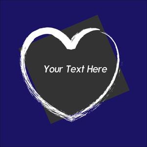 Grunge Heart Valentine Vector Banner