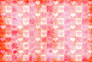 Grunge Hearts Patterned Background