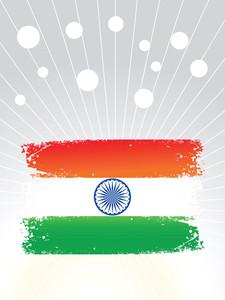 Grunge Indian Flag