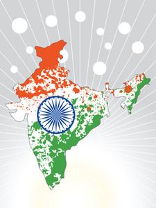 Grunge Indian Map