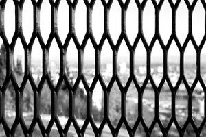 Grunge Lattice Window