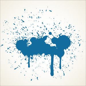 Grunge Paint Drops Vector Backdrop