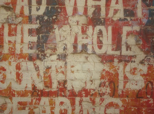 Grunge Painted Text Wall