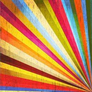 Grunge Rainbow Sunburst Background