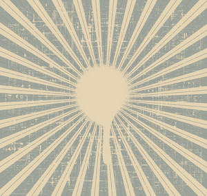 Grunge Rays Background Vector Illustration