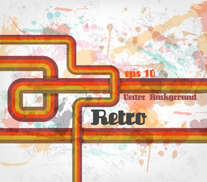 Grunge Retro Background Vector Illustration