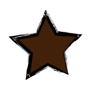 Grunge Retro Star Shape