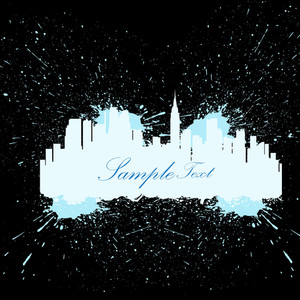 Grunge Skyline Banner