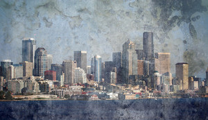 Grunge Skyline Texture Background