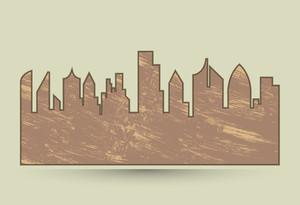Grunge Skyline Tile