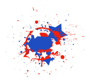 Grunge Splash Usa Independence Day Vector Theme Design
