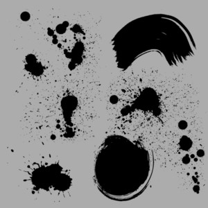 Grunge Splashes Vector