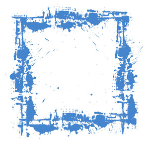 Grunge Splatter Frame Design Vector