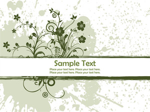 Grunge Spot Background With Floral Design