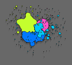 Grunge Stains Vector Drops