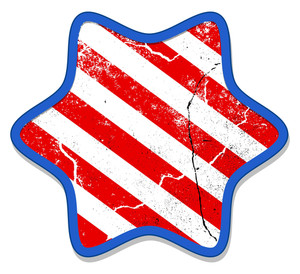 Grunge Star Patriotic Usa Theme Vector