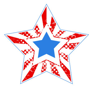 Grunge Star Us 4th Of July Independence Day Vector Design