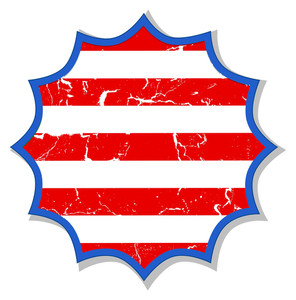 Grunge Sticker Us 4th Of July Independence Day Vector Design