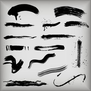 Grunge Strokes Silhouettes