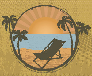 Grunge Summer Frame Vector Illustration