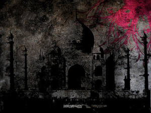 Grunge Taj Mahal Background