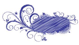 Grunge Texture Flourish Banner Vector