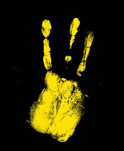 Grunge Texture Hand Print