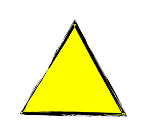 Grunge Triangle Vector