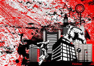 Grunge Urban Background Vector Illustration